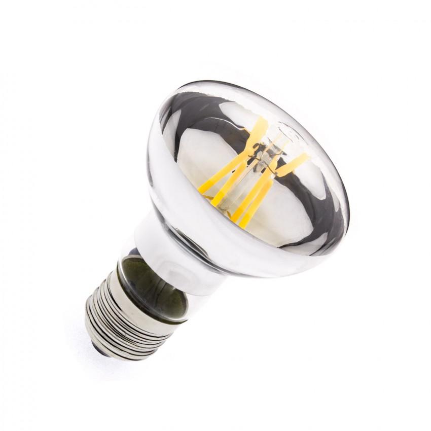 Bombilla LED E27 Regulable Filamento R63 6W