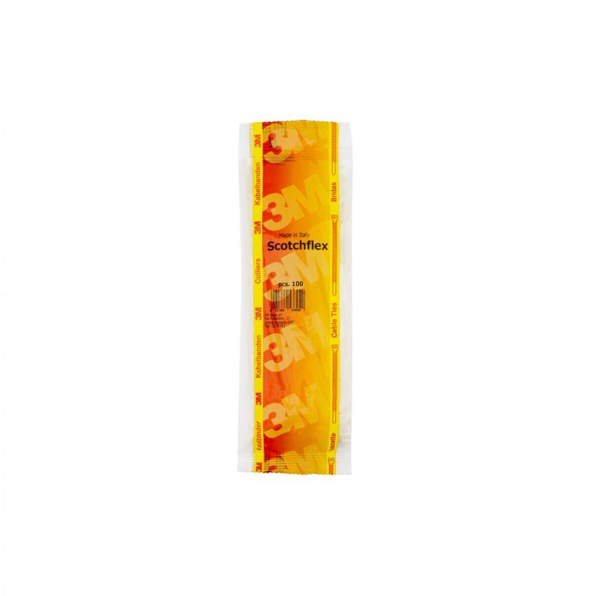 Pack Abraçadeiras Scotchflex 3M FS 100 A-C 2,5mm x 100 mm (100 Uds)