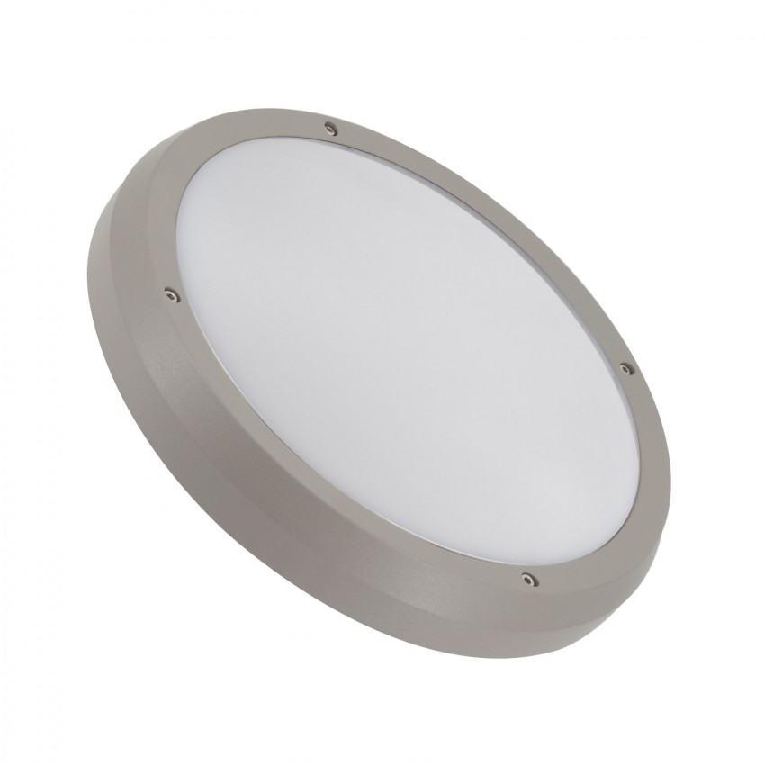 Plafón Circular Curio IP65 Cinzento