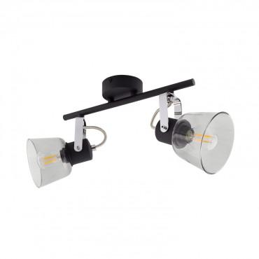 Lámpara de Techo Orientable Tivo 2 Focos Negro