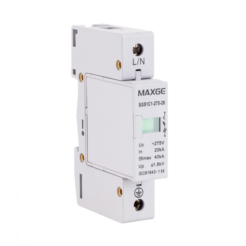 Protector Sobretensiones Transitorias MAXGE 1P-Clase II-40kA-20kA-1,8kV