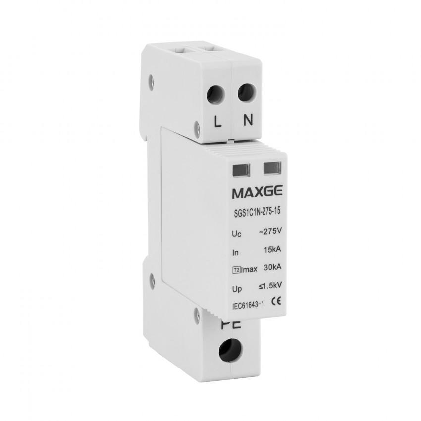 Protector Sobretensão Transitorias MAXGE 1P+N-Clase II-30kA-15kA-1,5kV