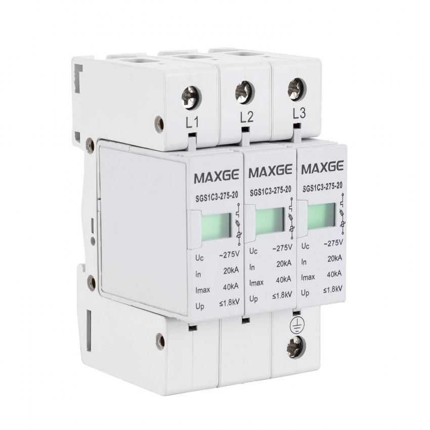 Protector Sobretensiones Transitorias MAXGE 3P-Clase II-40kA-20kA-1,6kV