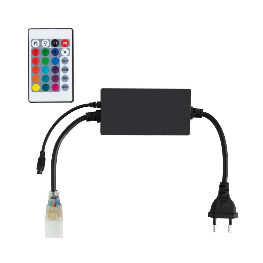 Controlador Tira LED RGB 220V UltraPower, Control Remoto IR 24 Botones