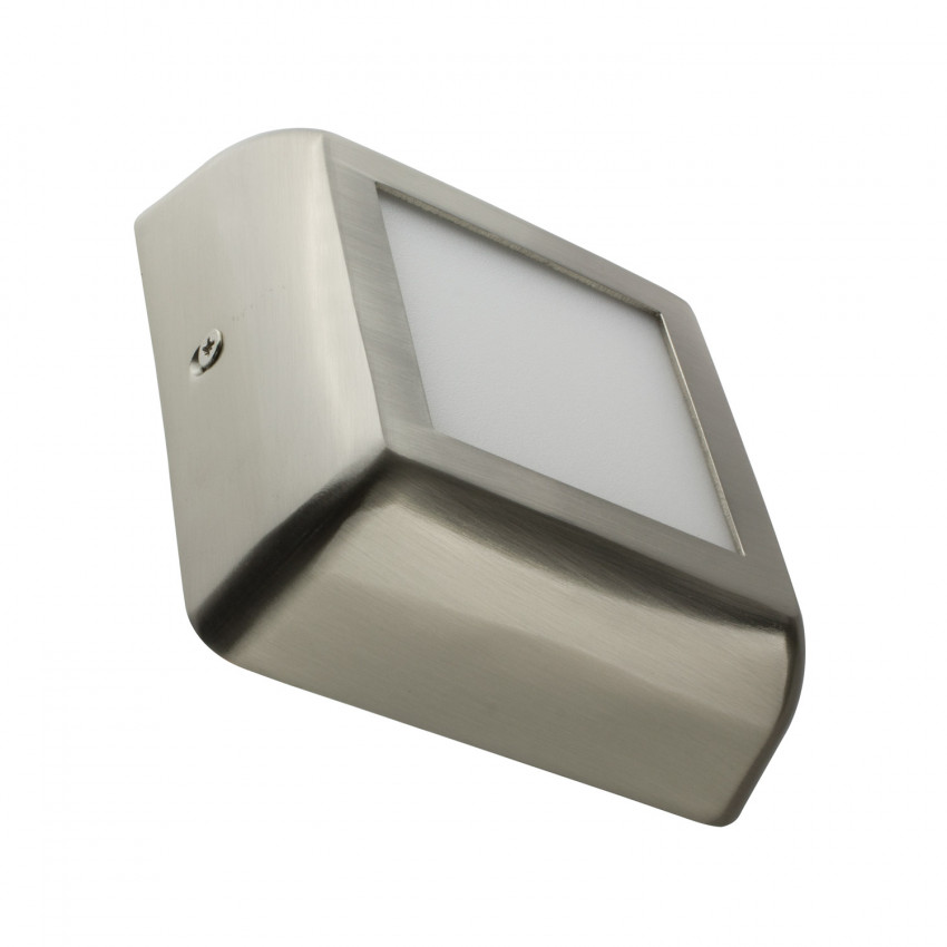 Plafón LED Quadrado Design 6W Silver