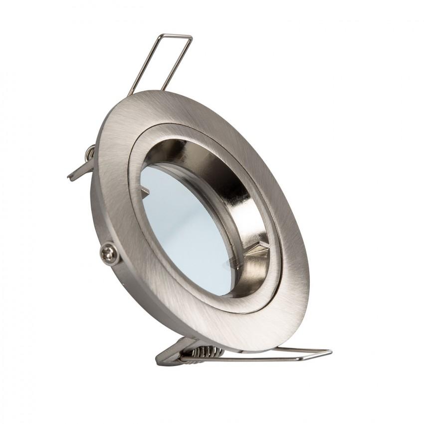 Aro Downlight Circular Prata para Lâmpada LED GU10 / GU5.3