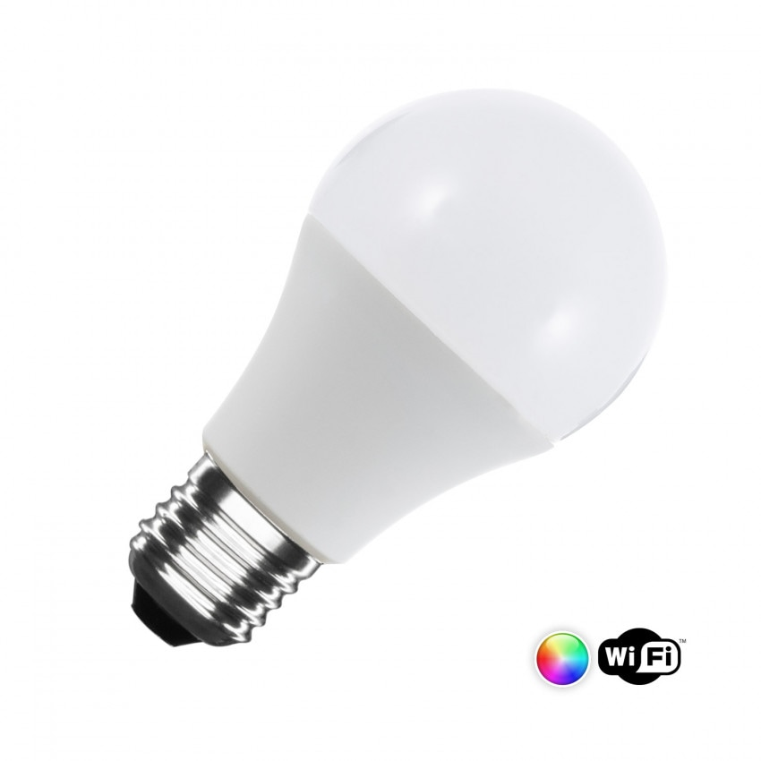Lâmpada LED Smart WiFi E27 A60 Regulável RGBW 6W