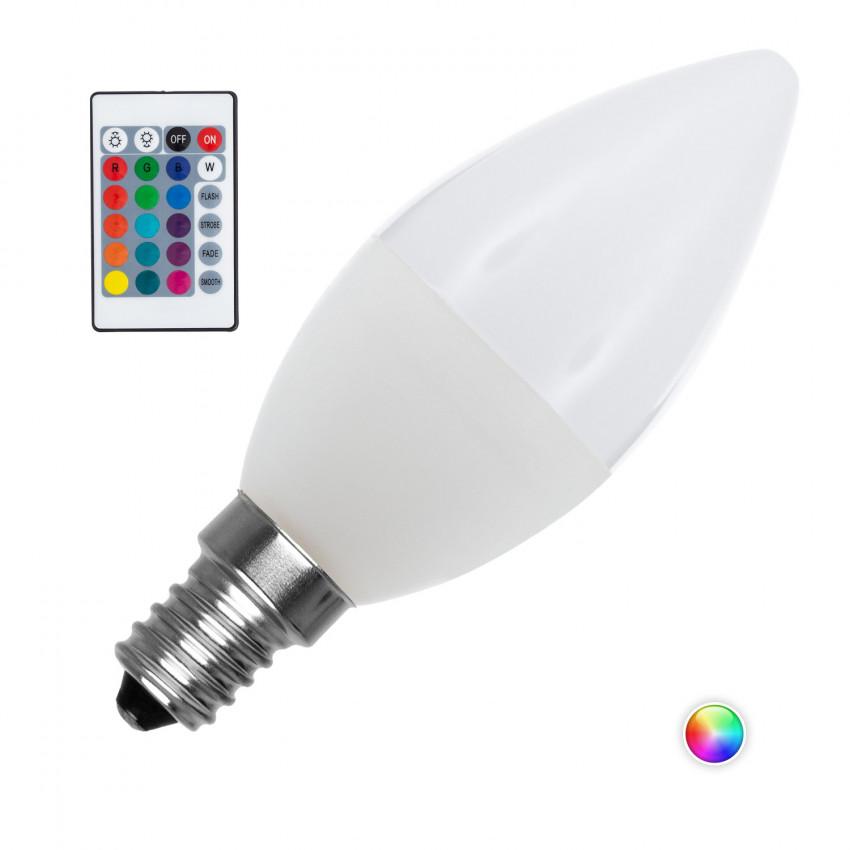 Bombilla LED E14 RGBW Regulable C37 4.5W