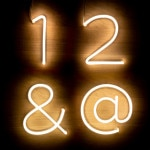 Números Neón LED