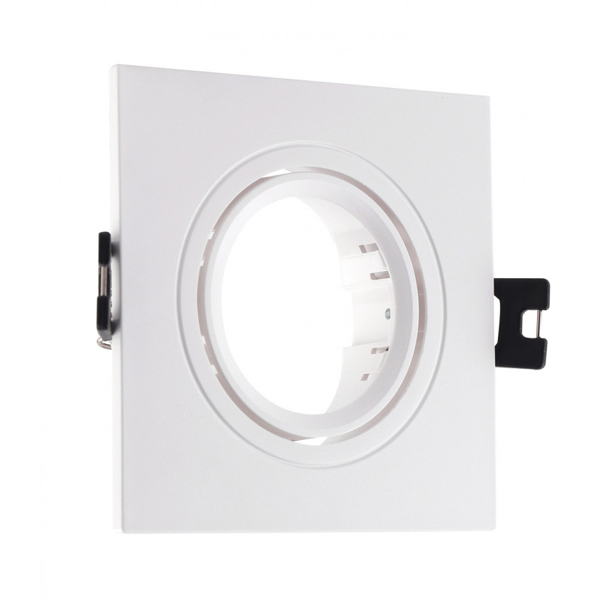 Aro Downlight Cuadrado Basculante PC para Bombilla LED GU10 / GU5.3