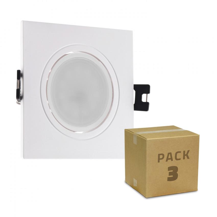 Pack 3 Focos Downlight GU10 6W