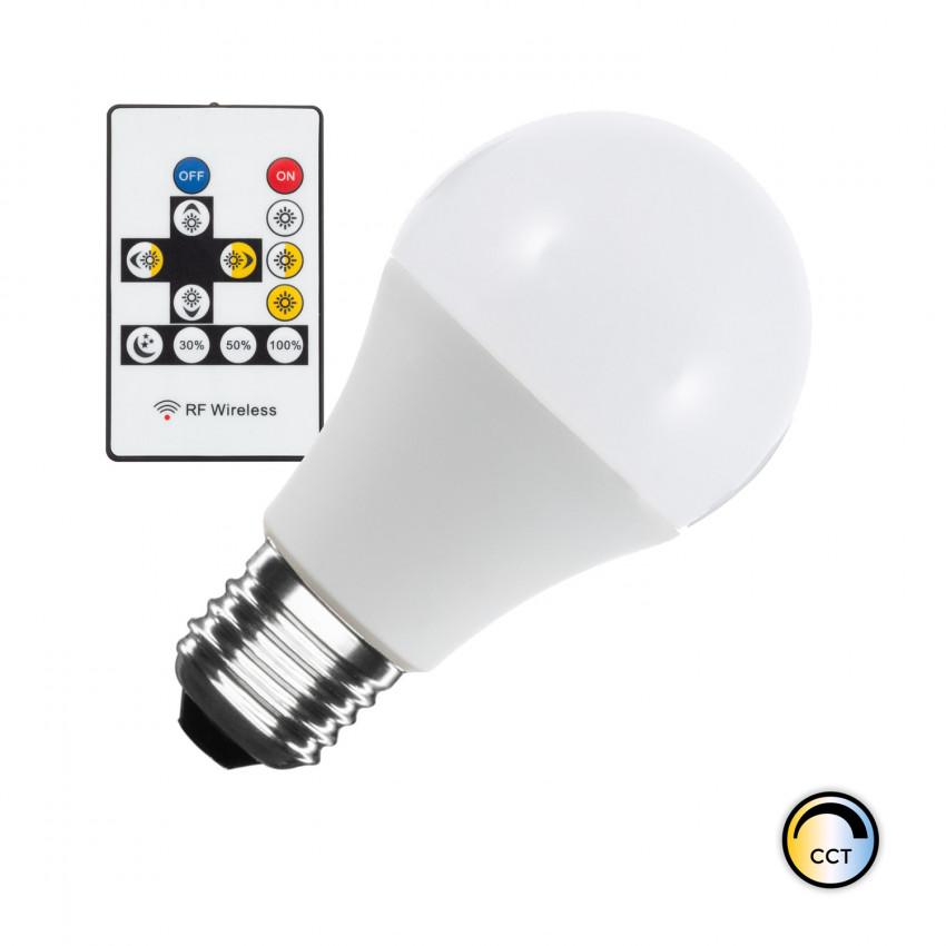 Lâmpada LED CCT Seleccionável E27 Regulável A60 9W