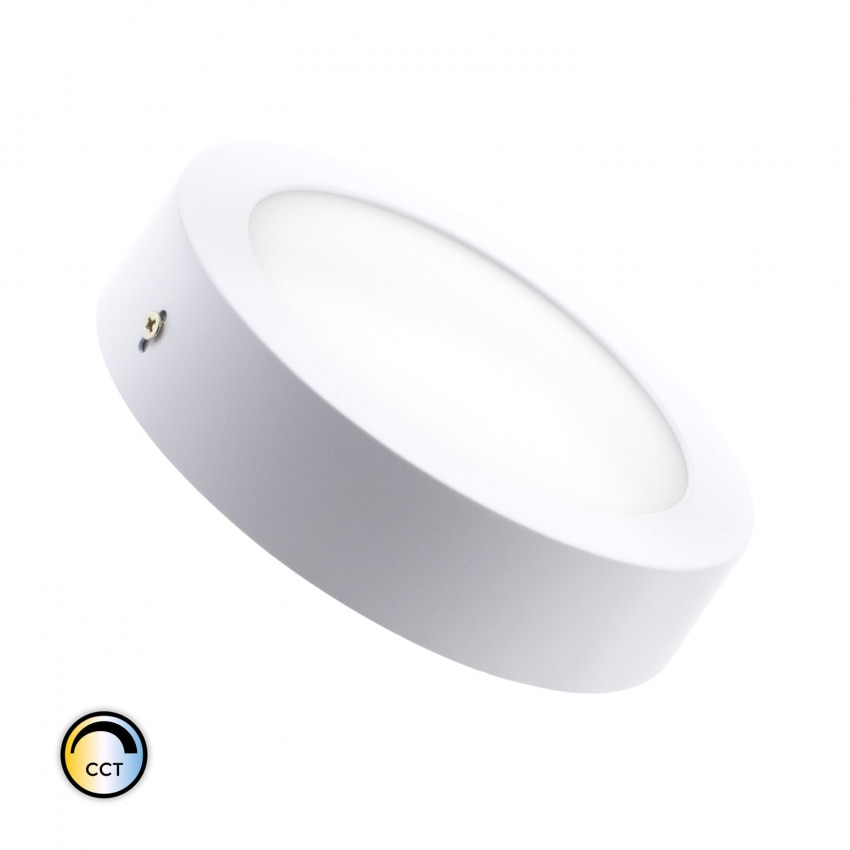 Plafón LED CCT Seleccionável Circular 18W Regulável