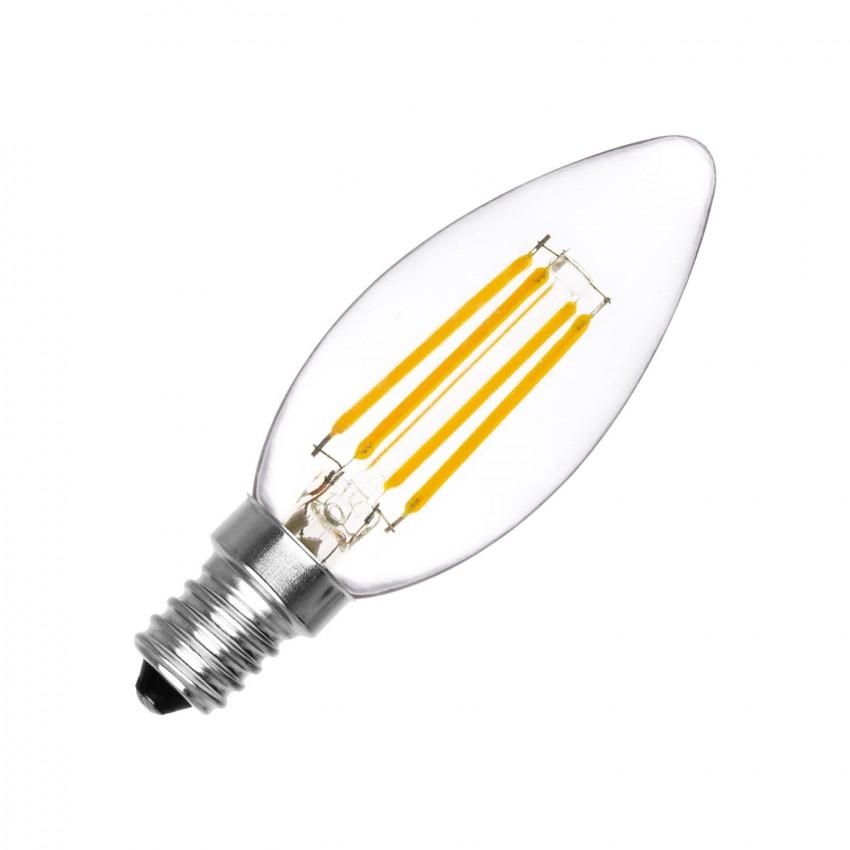 Lâmpada LED E14 Filamento C35 4W