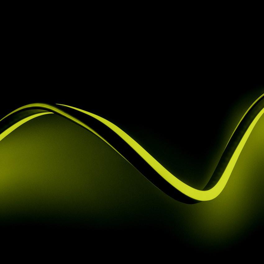 Fita Neon LED Regulável 220V AC 120 LED/m Amarelo IP65 à Medida Corte a cada 100 cm