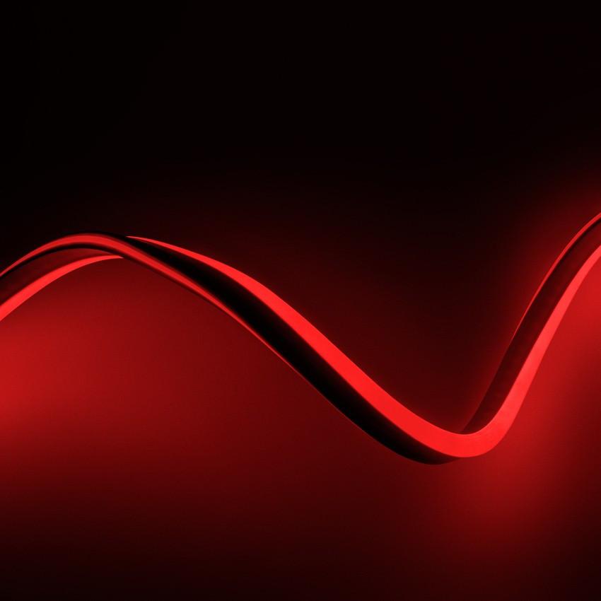 Fita Neon LED Regulável 220V AC 120 LED/m IP67 Vermelho à Medida Corte a cada 100 cm