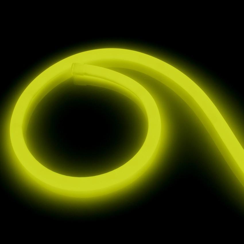 Fita Neon LED Regulável 220V AC 120 LED/m Circular 360 Amarelo IP67 à Medida