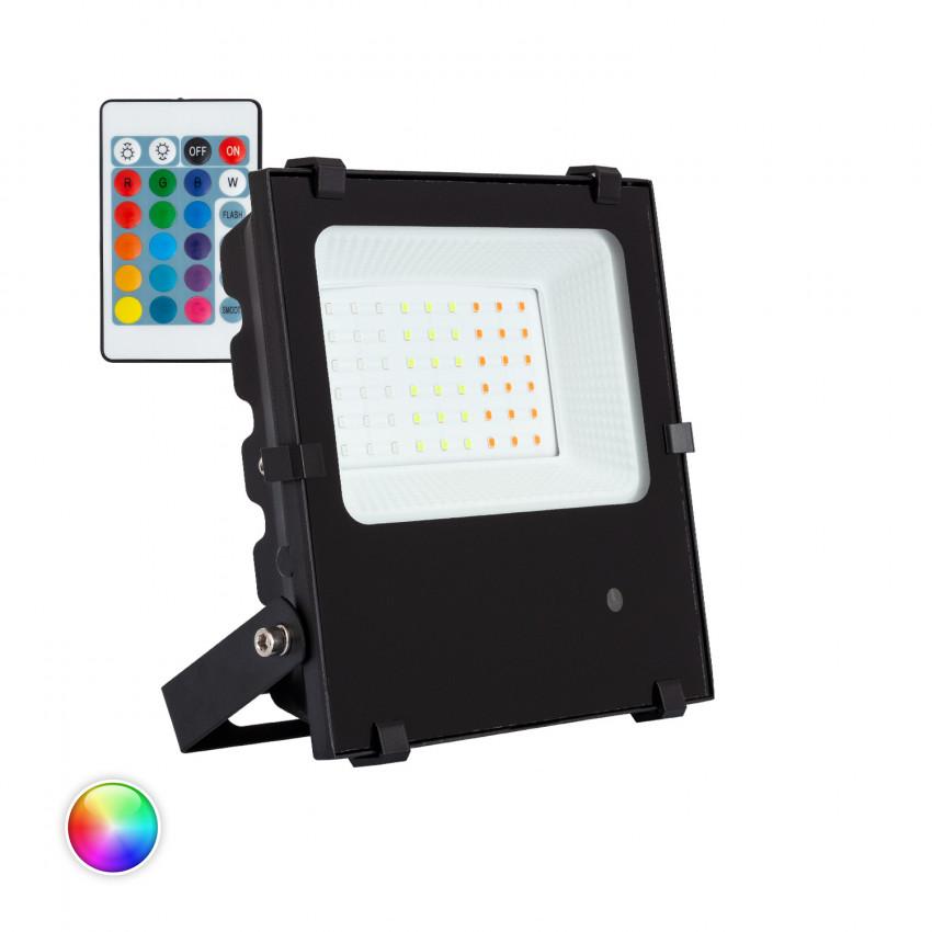 Foco Projector LED RGBWW 30W 135lm/W HE PRO Regulável