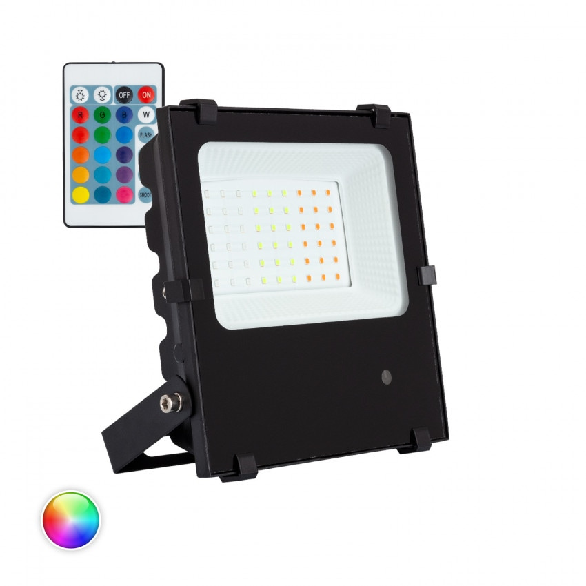 Foco Proyector LED 30W 135lm/W IP65 HE PRO RGB Regulable