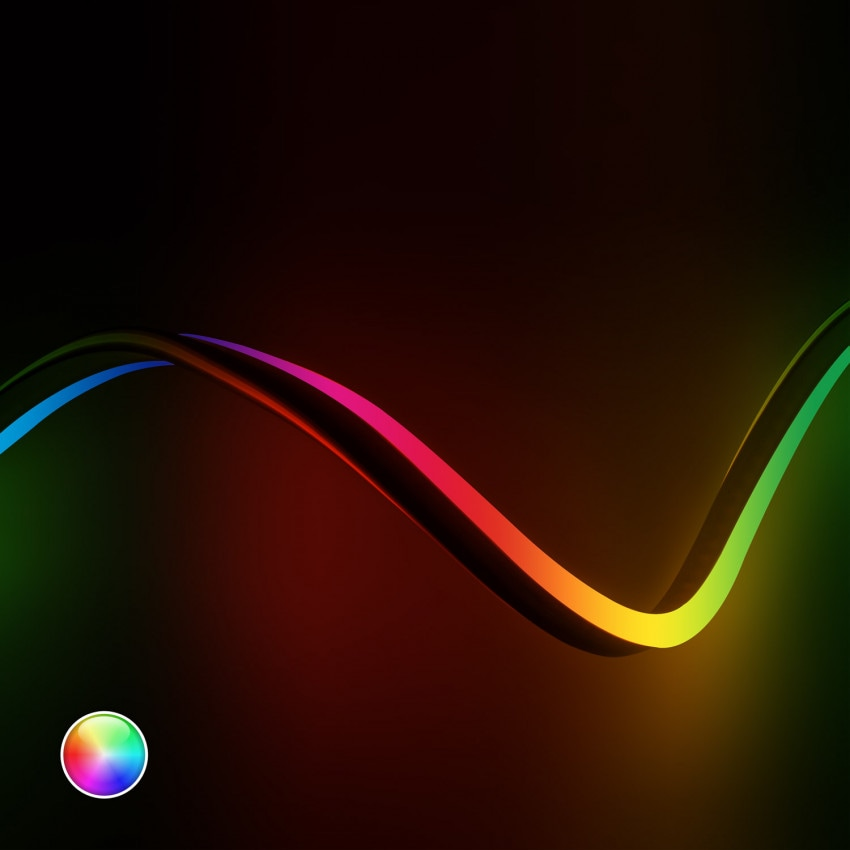 Fita Neon LED 220V AC 120 LED/m RGB à Medida