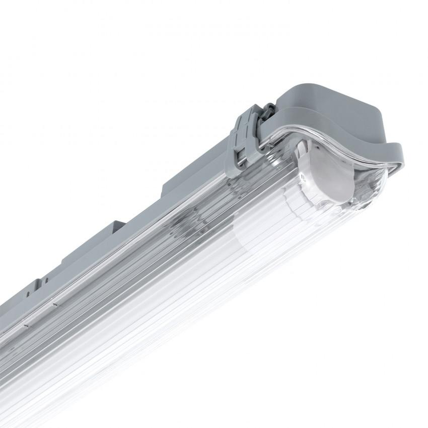 Armadura Hermética Slim para um Tubo de LED 1500mm PC/PC Conexão Uni-Lateral