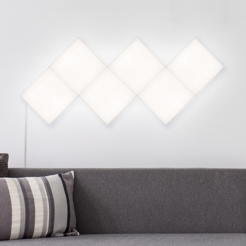 Painel LED Quadrado 15x15cm 3W 200lm Extensão