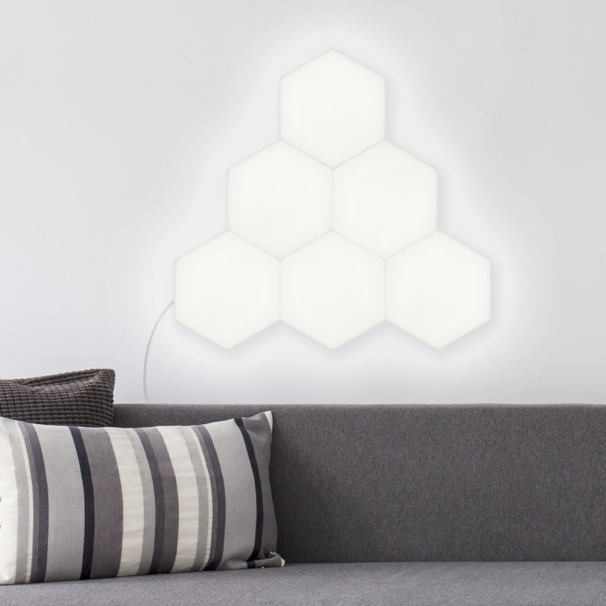 Panel LED Hexagonal 9x9cm 3.5W Base Principal
