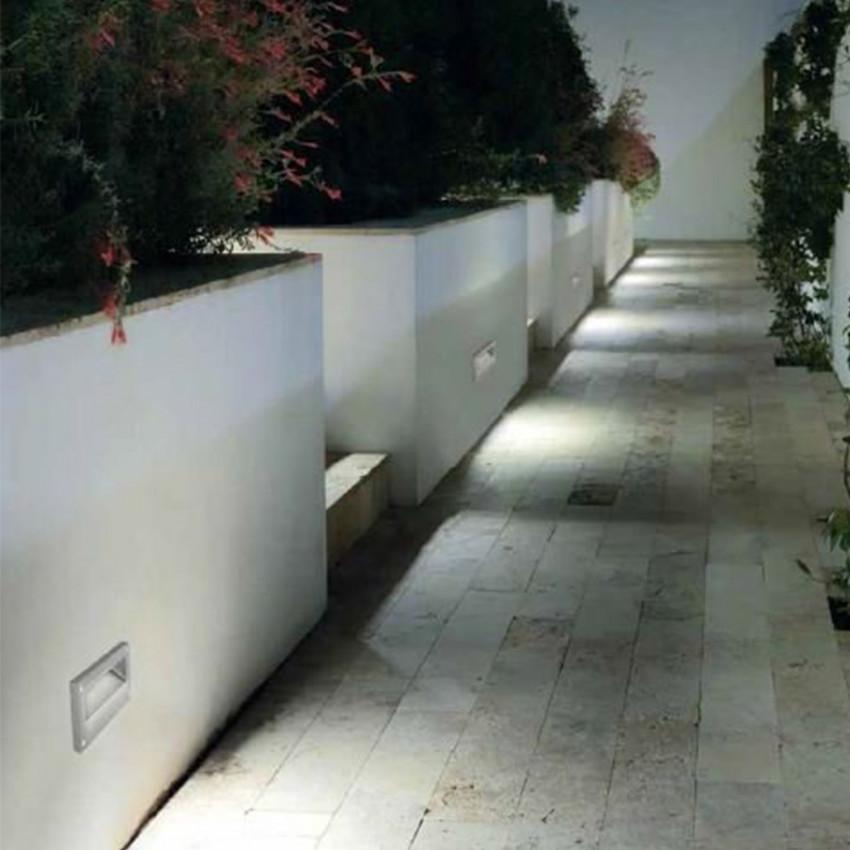 Baliza LED Empotrable en Pared Micenas 5.5W IP65 LEDS-C4 Gris Urbano 05-9832-Z5-CM