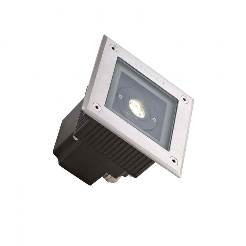 Foco LED Cuadrado en Suelo Gea Power 6W IP67 LEDS-C4 55-9723-CA-CL