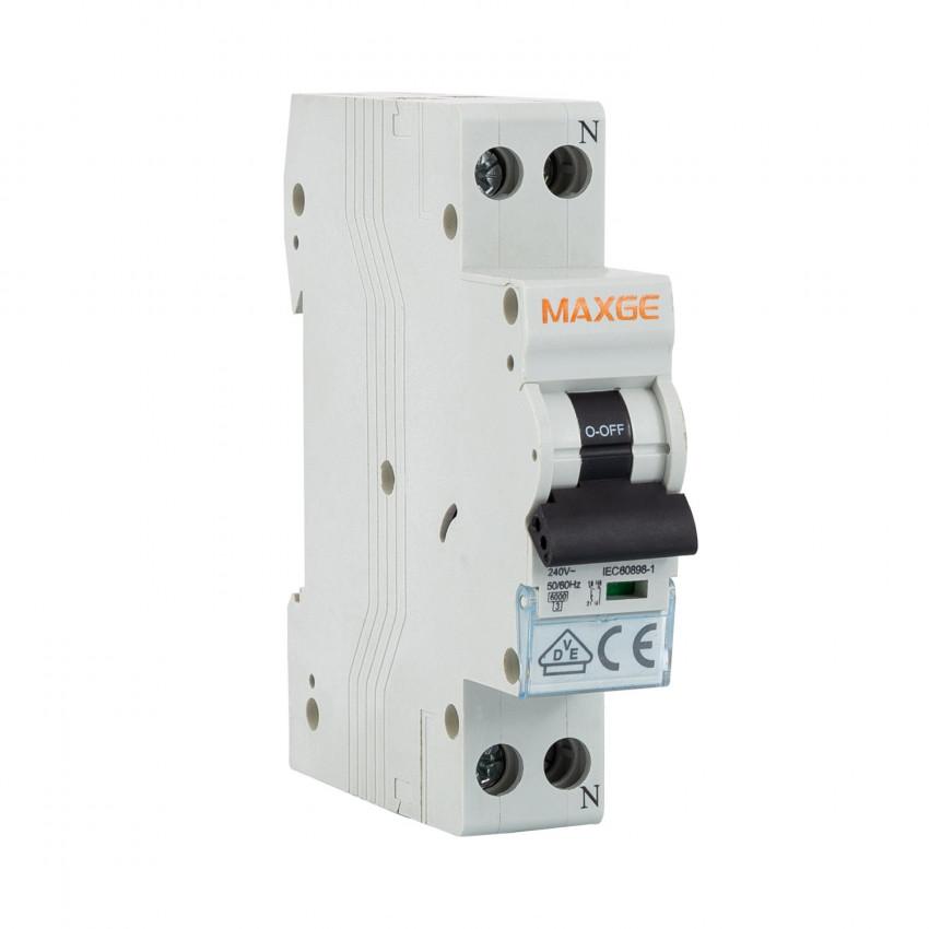 Interruptor Automático Residencial MAXGE 1P+N-6kA 6-40A 1 Modulo DPN