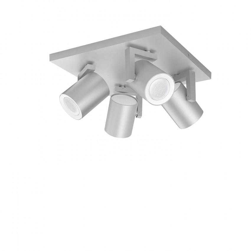 Lámpara de Techo LED RGBW PHILIPS Hue White Color Argenta 4 Focos 24W