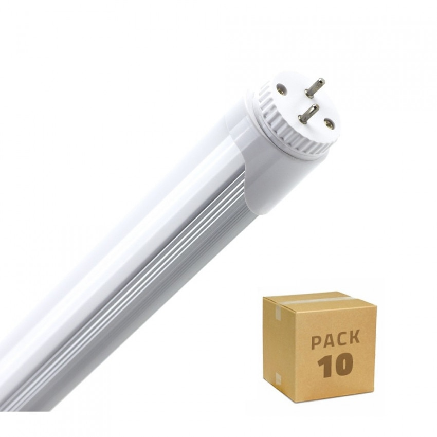 Caja de 10 Tubo LED T8 600mm Conexión un Lateral 9W 120lm/W Blanco Frio