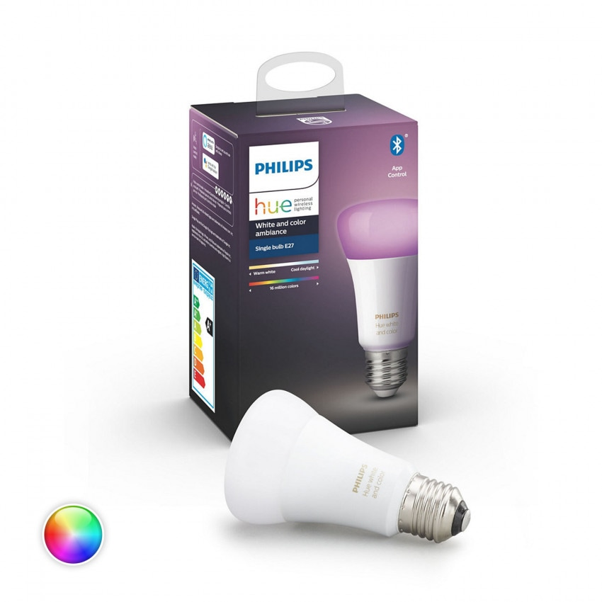 Bombilla LED E27 RGBW PHILIPS Hue White Color 9W