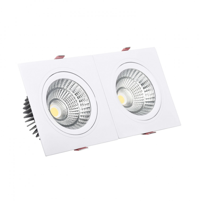 Foco Downlight LED Retangular Duplo New Madison 30W Corte 260x120 mm