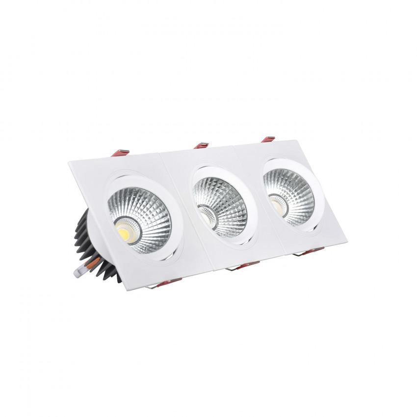 Foco Downlight LED 15W Rectangular Triple New Madison Corte 255x75 mm