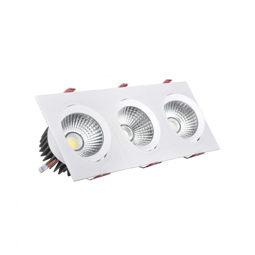 Foco Downlight LED Retangular Triplo New Madison 30W Corte 315x95 mm