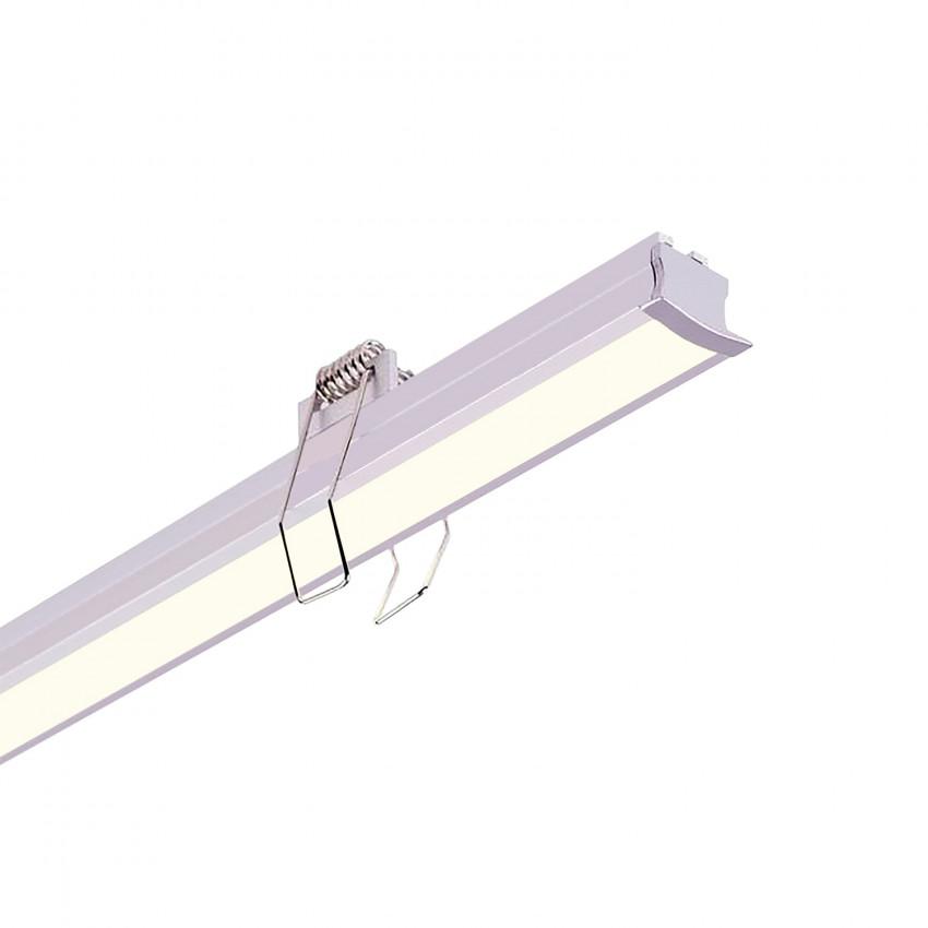 Perfil de Aluminio Encastrável para Teto com Clips 1m para Fitas LED