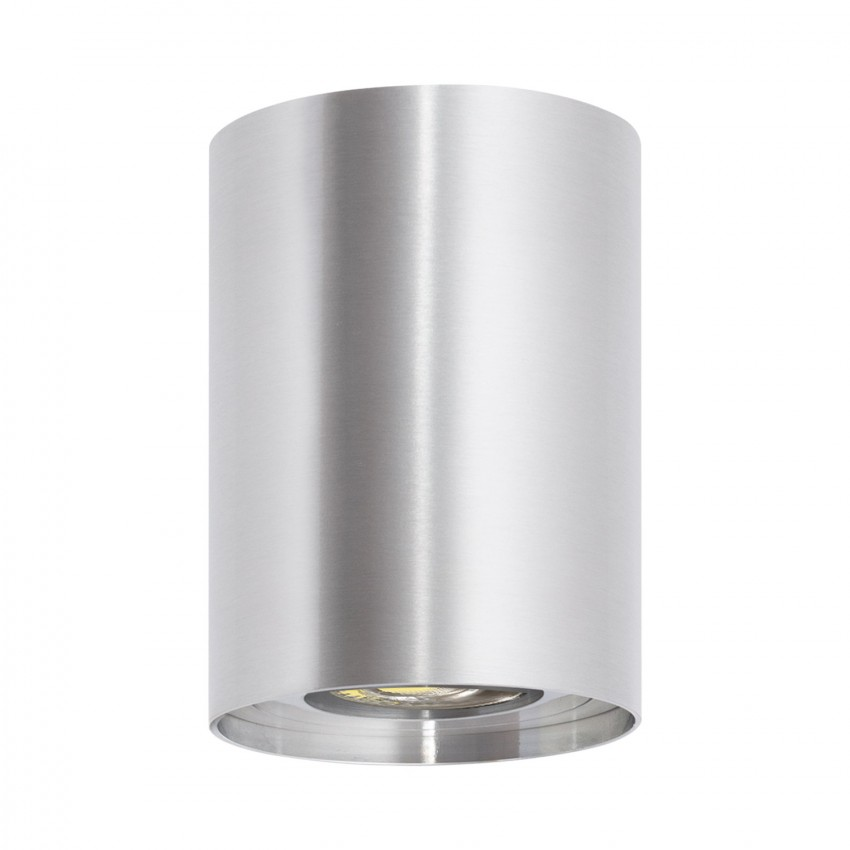 Aplique Techo Cuarzo Aluminio Plata