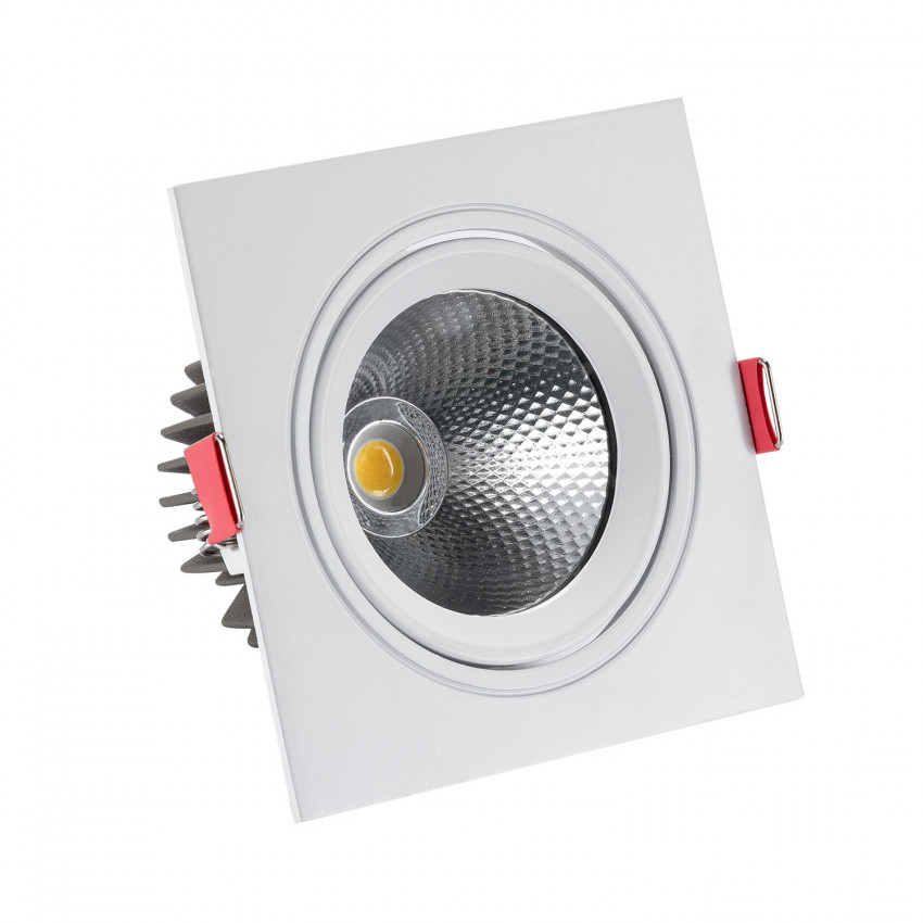 Foco Downlight LED COB Quadrado New Madison 10W (UGR19) Corte Ø 95 mm