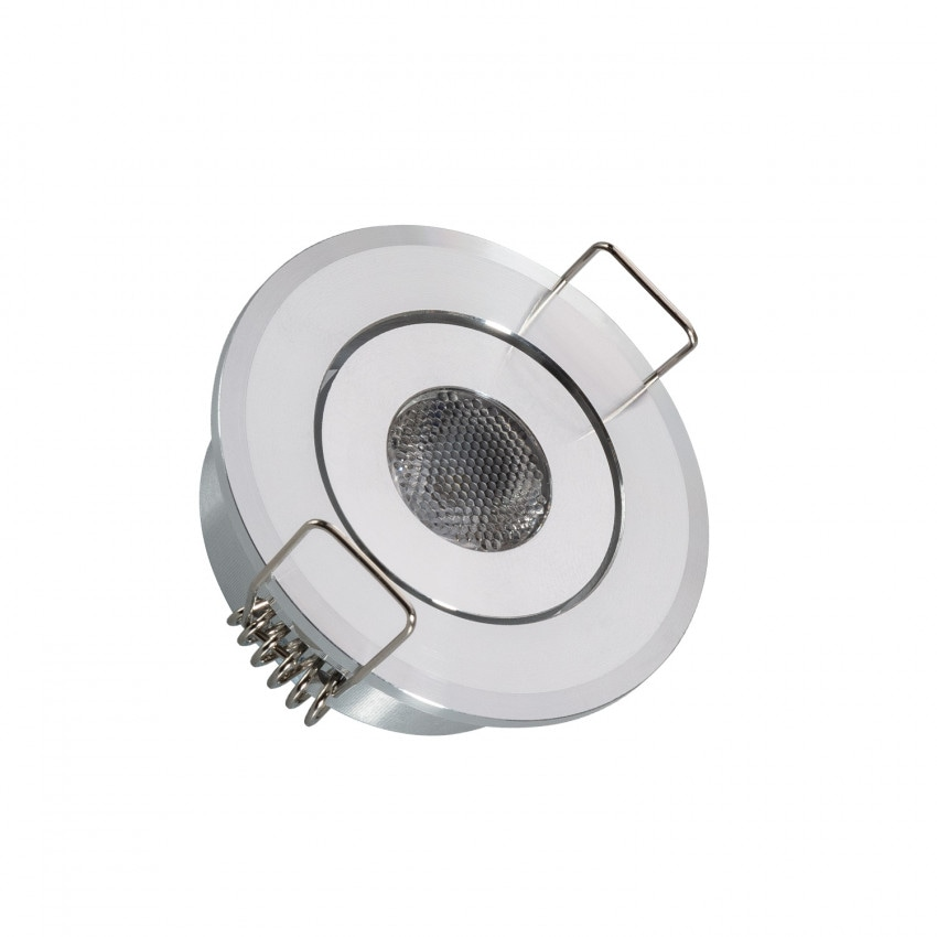 Foco Downlight LED COB Direccionável Circular 1W Corte Ø 45 mm