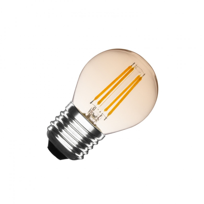 Bombilla LED E27 Regulable Filamento Gold Small Classic G45 4W
