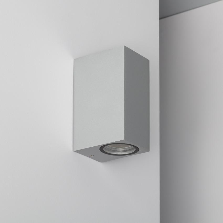 Aplique Miseno Prata Iluminação Dupla Cara