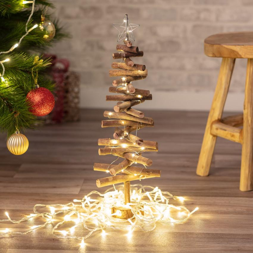 Árvore de Natal em Madeira com Luzes LED