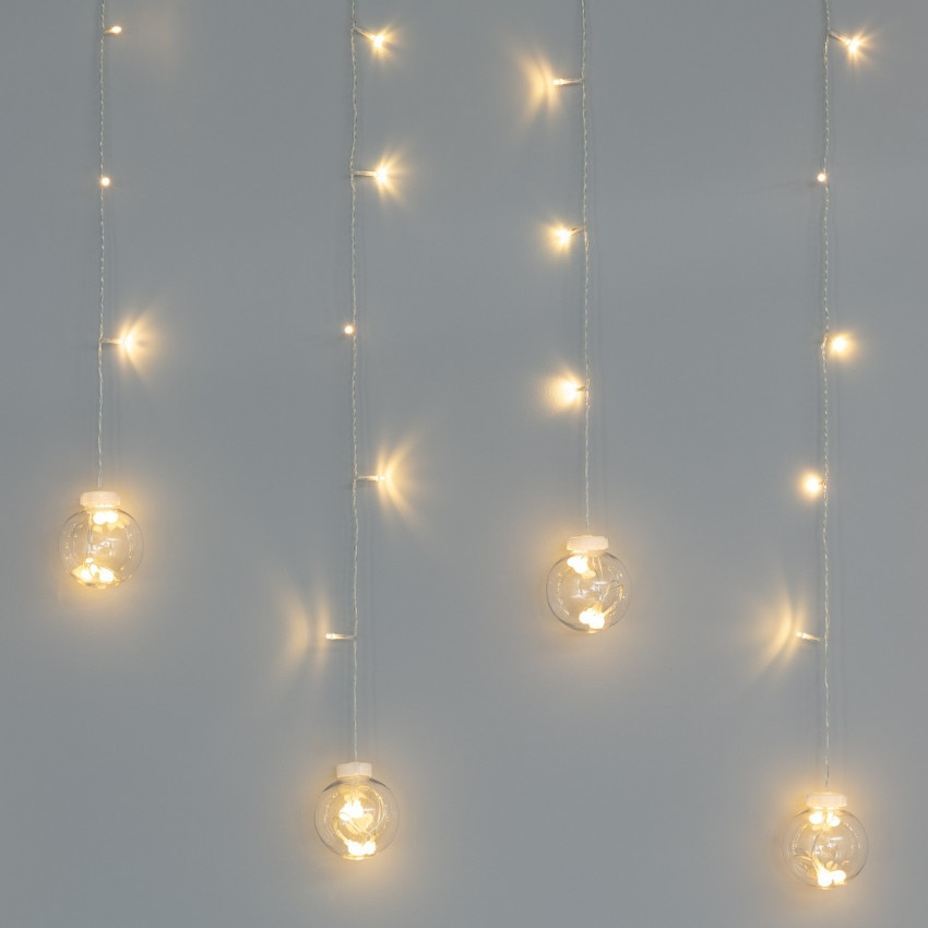 Cortina Bolas Colgantes LED 3.6W 2.5m