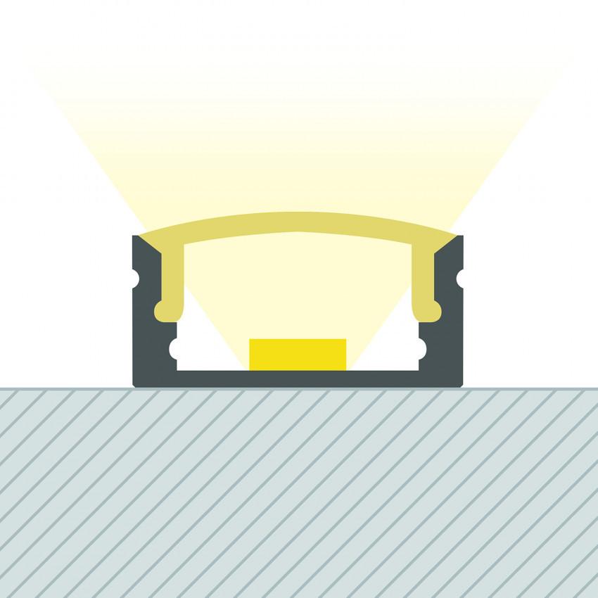 Perfil de Alumínio de Superfície com Cobertura Contínua para Tiras de LED