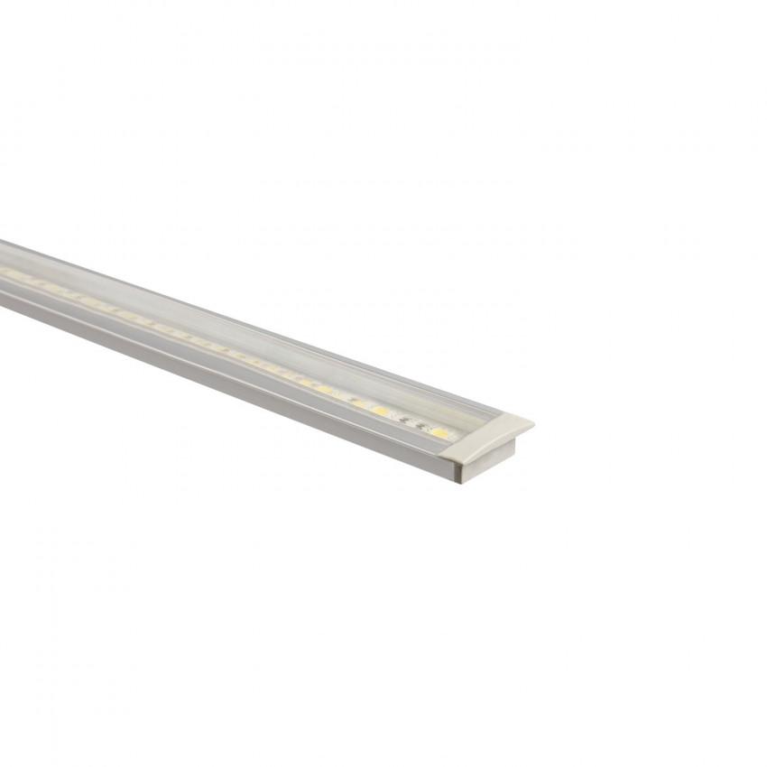 Perfil de Aluminio Empotrado con Tapa Continua para Tiras LED