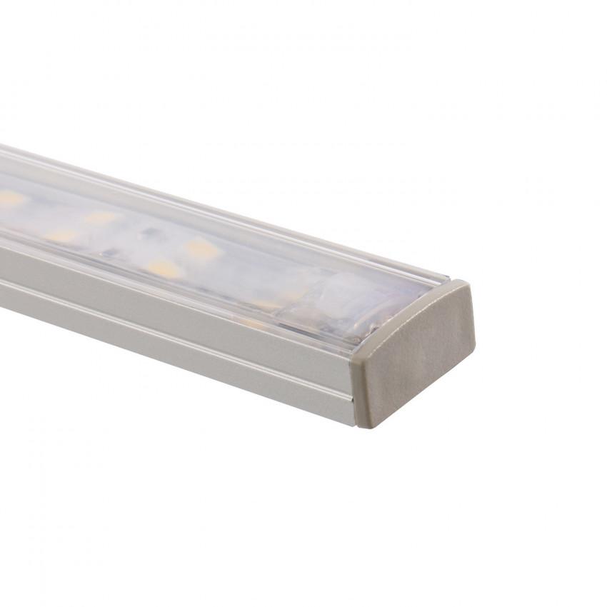 Perfil de Alumínio de Superfície com Cobertura Contínua para Duas Fitas LED