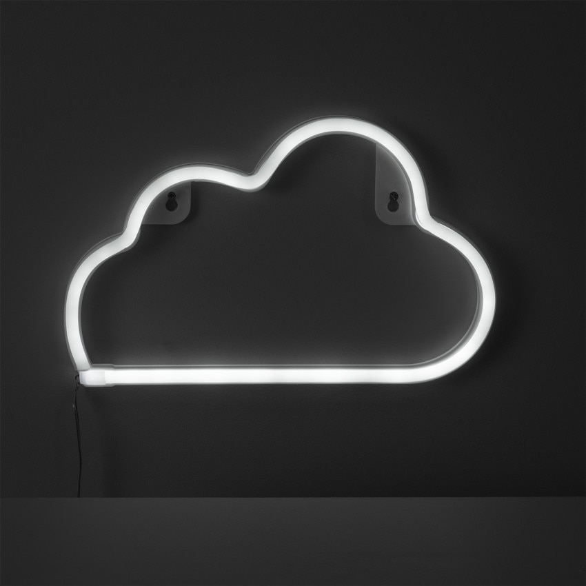 Neon LED Cloud com Bateria