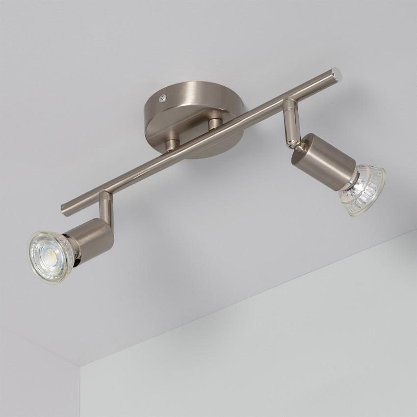Lámpara de Techo Orientable Oasis 2 Focos Plata