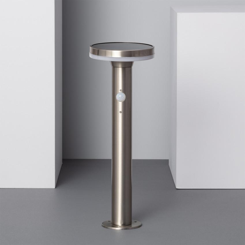 Baliza LED Solar Helios Inox com Detetor de Movimento PIR 45cm